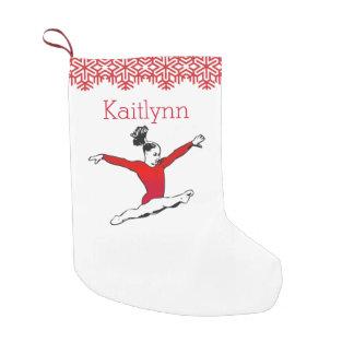 Leaping Gymnast Christmas w/ Monogram