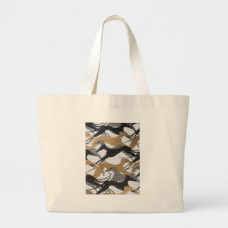 Leaping Hounds Large Tote Bag