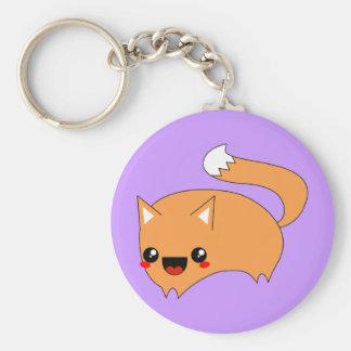 Leaping Kawaii Fox Key Chain