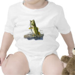 Leaping largemouth bass baby bodysuits