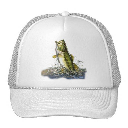 Leaping largemouth bass cap