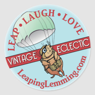 Leaping Lemming Sticker