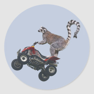 Leaping Lemur Sticker