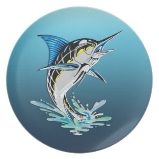 Leaping Marlin Dinner Plate