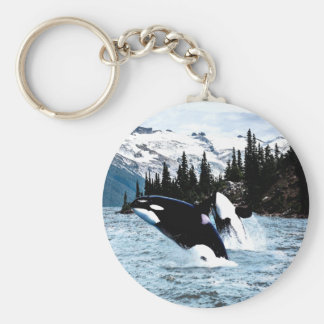 Leaping Orca Key Ring