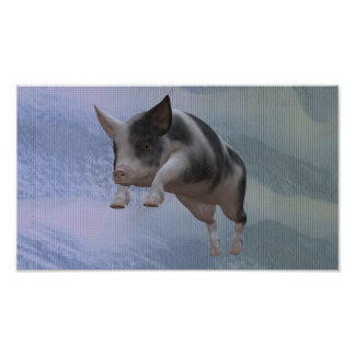 Leaping Pig Posters