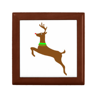 Leaping Rudolph The Red Nose Reindeer Small Square Gift Box