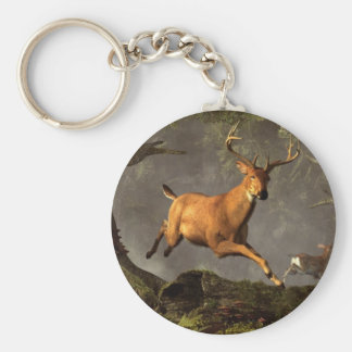 Leaping Stag Key Ring