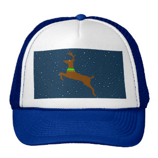 Leaping The Red Nose Reindeer Trucker Hat