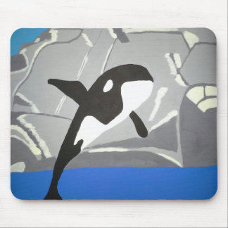 Leaping Whale Mouse Pad