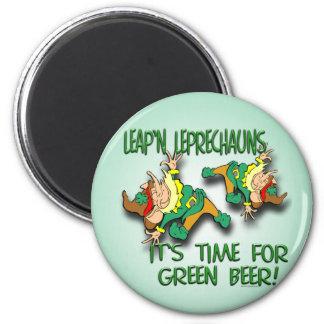 Leap'n Leprechauns 6 Cm Round Magnet