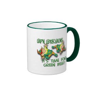 Leap'n Leprechauns Ringer Mug