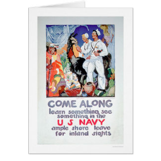 Learn and See Something in the Navy (US02315) Greeting Card