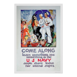 Learn and See Something in the Navy (US02315) Poster