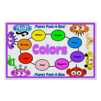 LEARN COLORS WITH PLANET PEEK-A-BOO POSTER