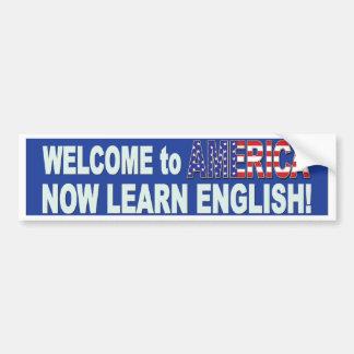 Learn-English-Blue Bumper Sticker
