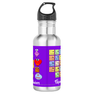 Learn Filipino Alphabet and Numbers 532 Ml Water Bottle