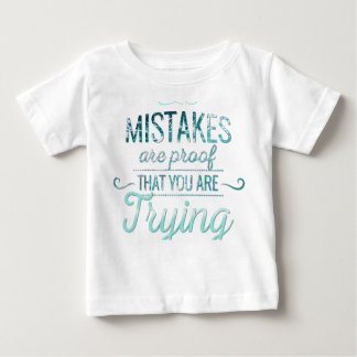 Learn from mistakes motivational typography quote baby T-Shirt