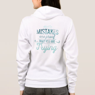 Learn from mistakes motivational typography quote hoodie