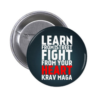 Learn from the Street Krav Maga black Pin