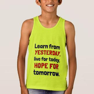 """Learn From Yesterday"" Boys' Tanktop Singlet"