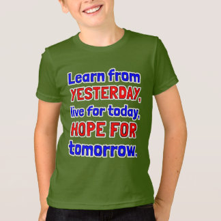 """""""Learn From Yesterday"""" Kids' American Apparel T-Sh T-Shirt"""