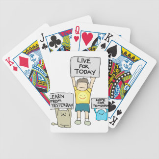 Learn From Yesterday, Live for today, Hope for Tml Bicycle Playing Cards
