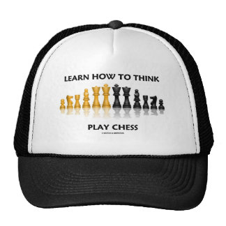 Learn How To Think Play Chess (Chess Set) Hat