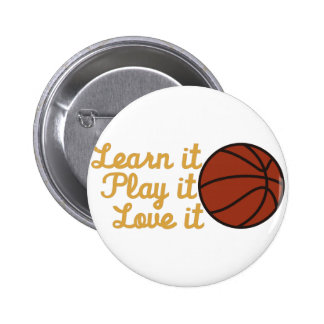 Learn It Basketball 6 Cm Round Badge