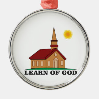 learn of god church Silver-Colored round decoration