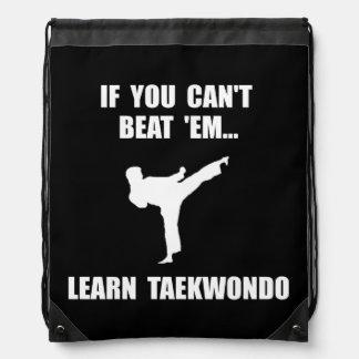 Learn Taekwondo Drawstring Bag