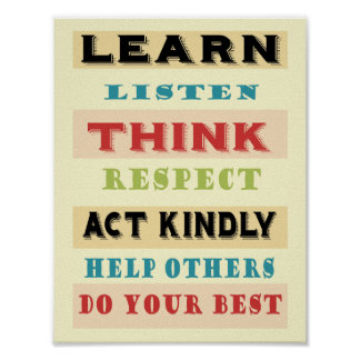 Learn Teachers Educational Poster