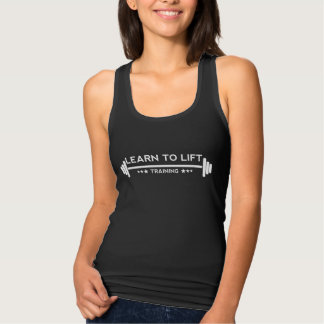 Learn to Lift Ladies - Training Vest Top Black
