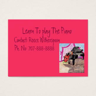 Learn To Play The Piano Business Card