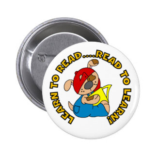 Learn to Read, Read to Learn 6 Cm Round Badge