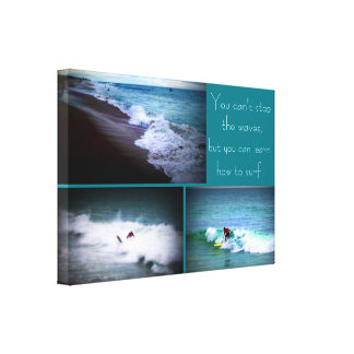 Learn to Surf wall hanging Canvas Prints