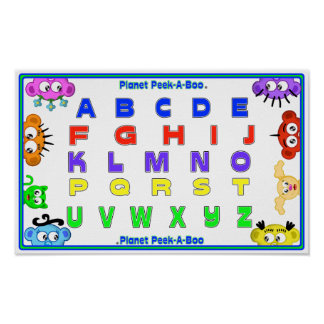 LEARN YOUR ABC'S WITH PLANET PEEK-A-BOO POSTER