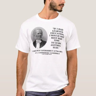 Learned Education Not Have Had Time To Learn T-Shirt