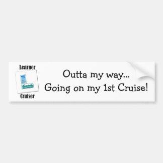 Learner Cruiser Bumper Sticker