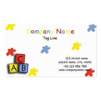Learning block business cards