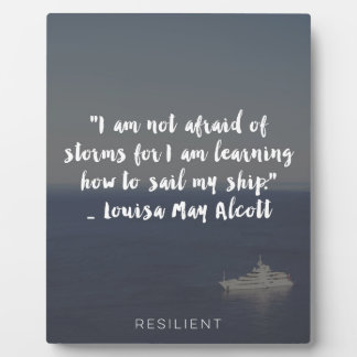"""""""Learning How to Sail My Ship"""" Cursive Quote Plaque"""