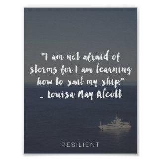 """""""Learning How to Sail My Ship"""" Cursive Quote Poster"""