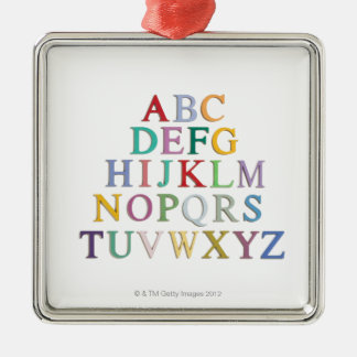 learning, letters, alphabet metal ornament
