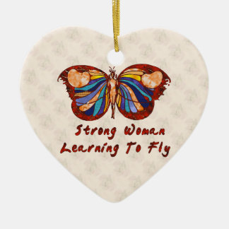 Learning To Fly Ceramic Heart Decoration