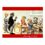 Learning to Knit Postcard