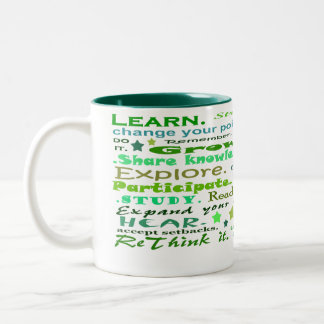 Learning words collage cup