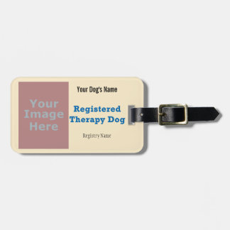 Leash Tag - Therapy Dog Travel Bag Tag