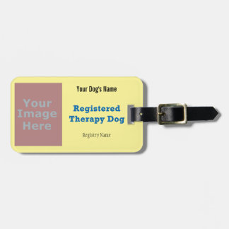 Leash Tag - Therapy Dog Travel Bag Tags