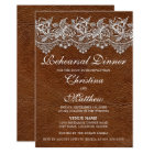Leather and Lace Look Rehearsal Dinner Card