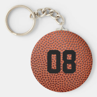 Leather Basketball Jersey Number Keychain